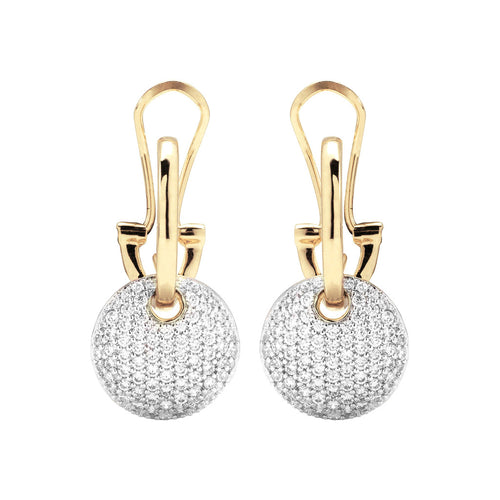 ALTISSIMA BRONZALLURE GOLDEN CZ DANGLE EARRINGS - WSBZ00568Y
