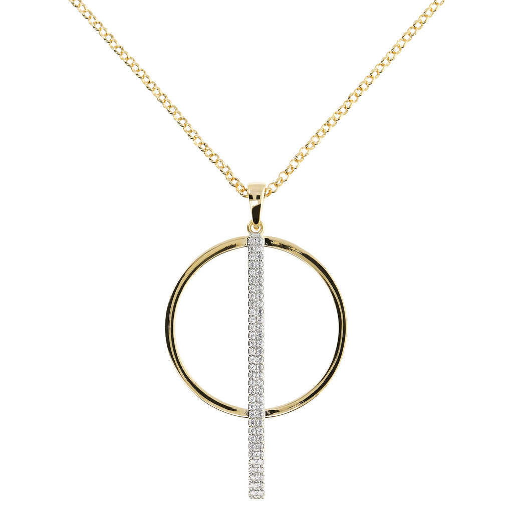Circle Design Necklace Yellow Gold