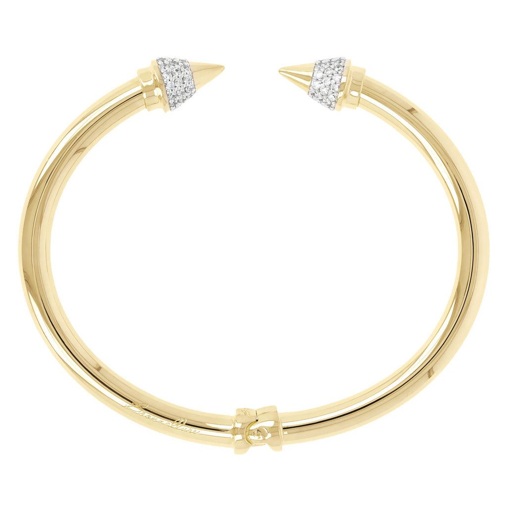ALTISSIMA BRONZALLURE GOLDEN SHINY ARROWS BANGLE - WSBZ00463Y side