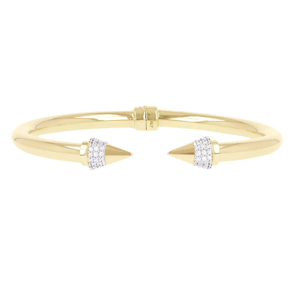 CZ Arrow Bracelet Yellow Gold