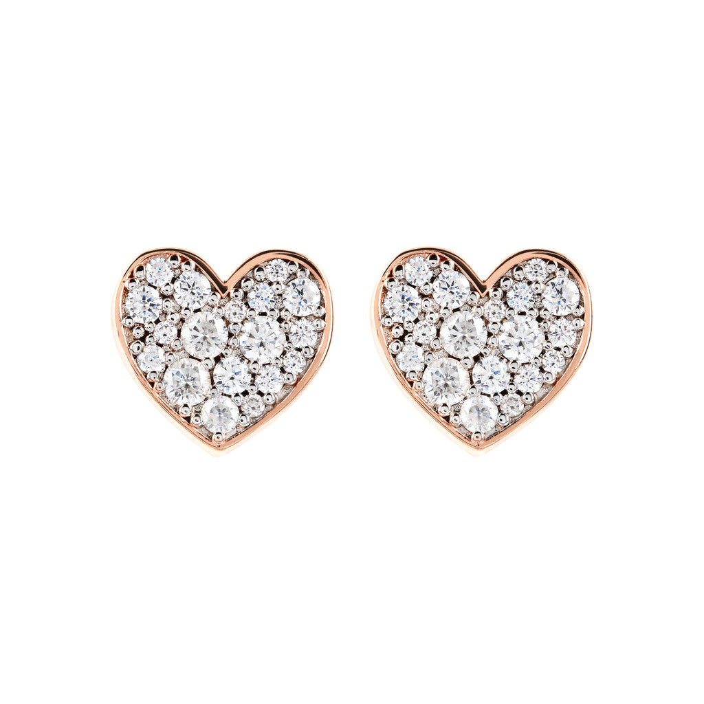 ALTISSIMA BUTTON EARRING HEART SHAPE PAVè  - WSBZ01469