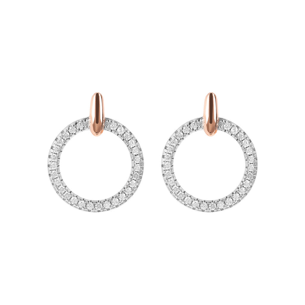 Small Circle CZ Earrings