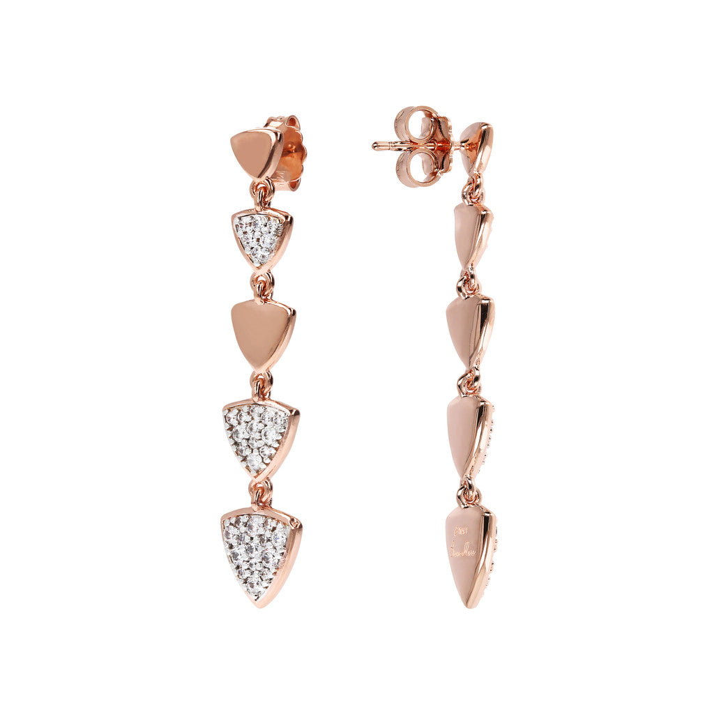 ALTISSIMA CZ GEMSTONE DANGLE EARRINGS - WSBZ01571 front and side