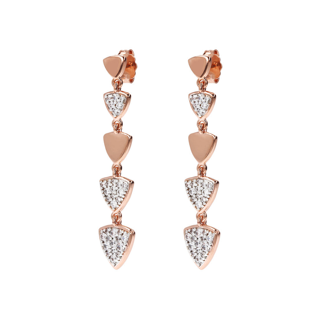 Bronzallure | Earrings | Pendant Earrings with Triangles