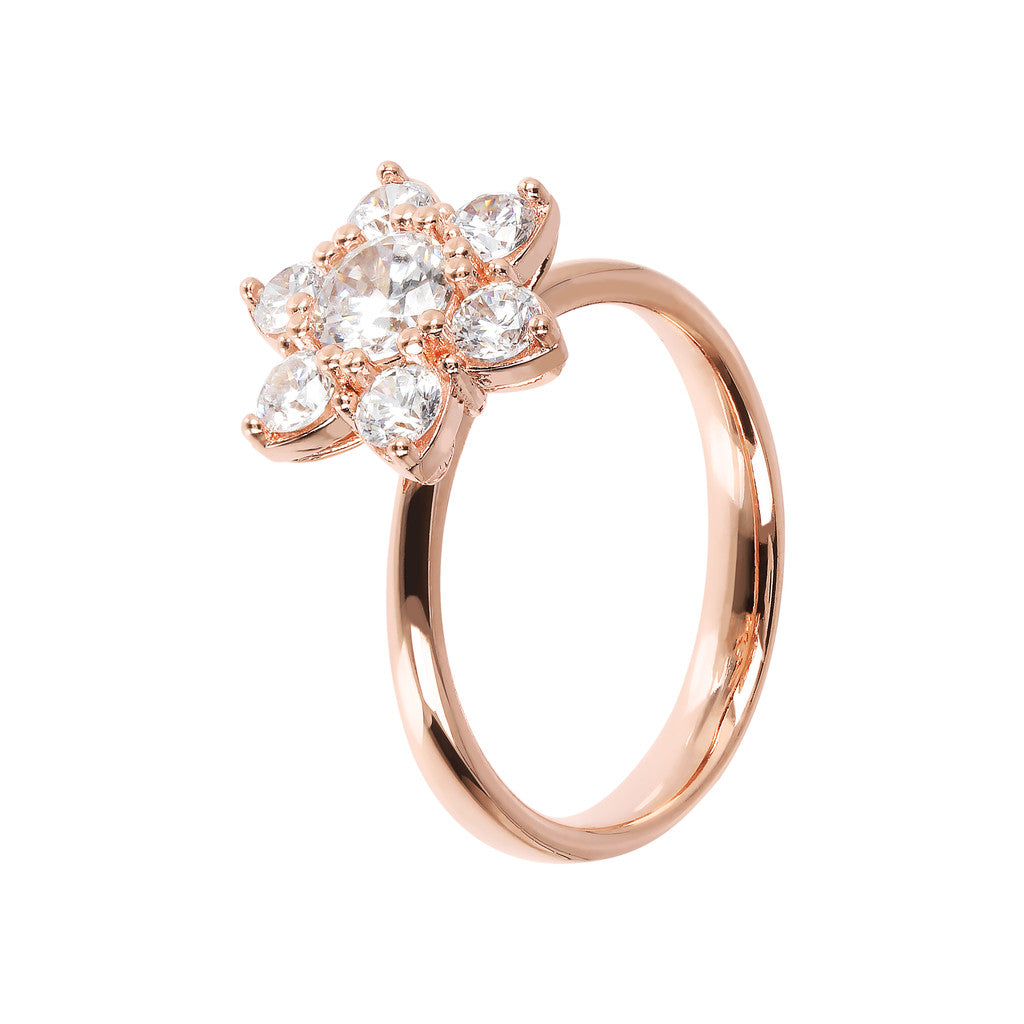 Flower Ring with CZ