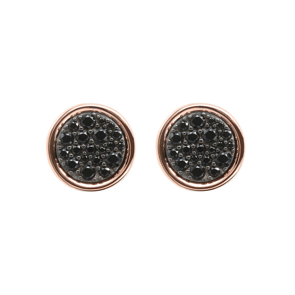 ALTISSIMA DISC WITH CZ GEMSTONE BUTTON EARRINGS - WSBZ01687