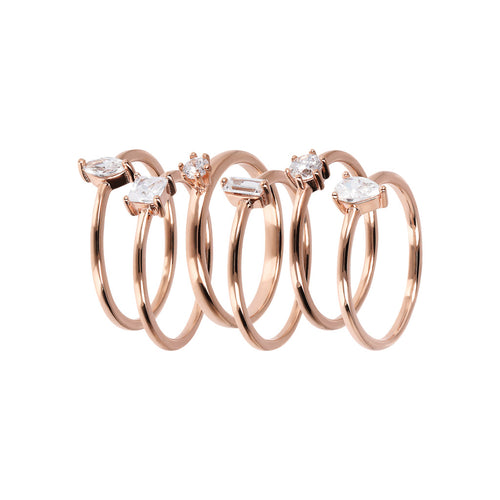 Bronzallure | Rings | Set of Cubic Zirconia Ring