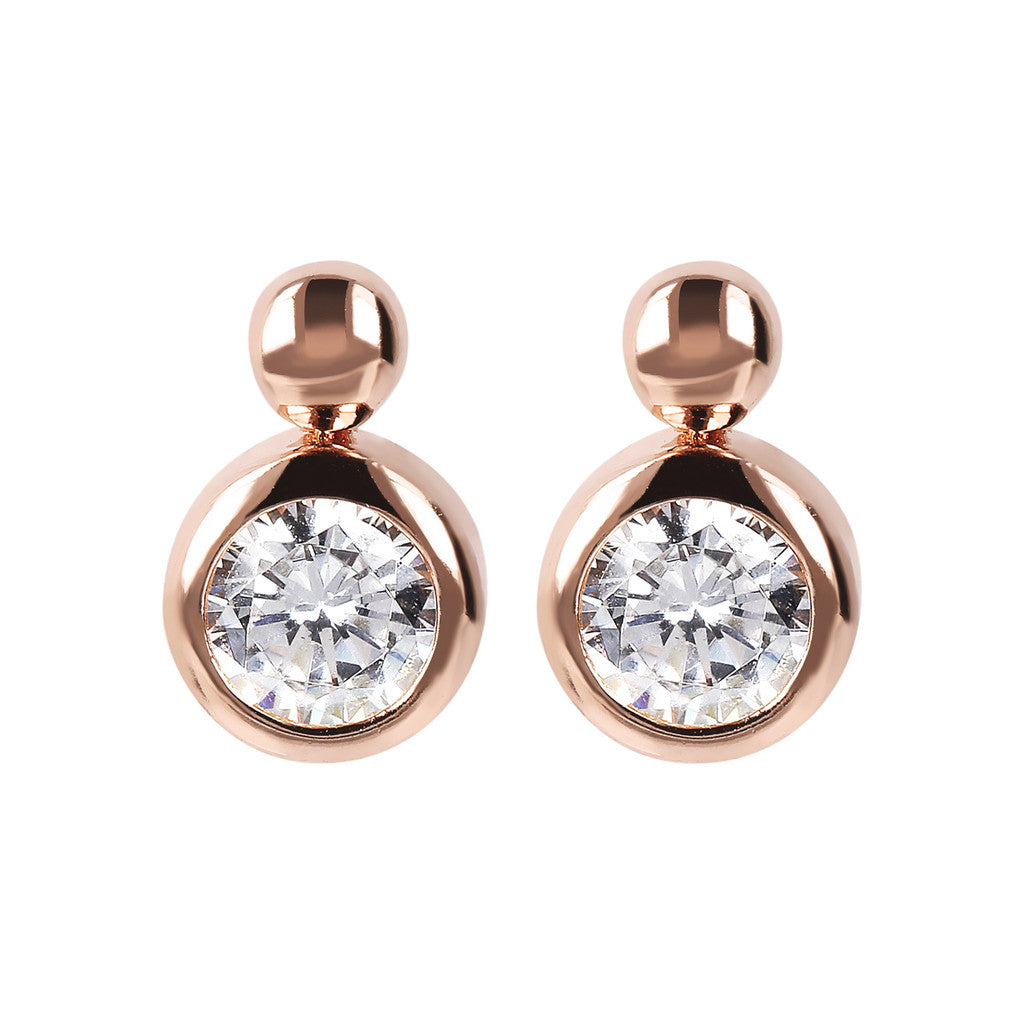 Bronzallure | Earrings | Polished Earrings with Cubic Zirconia