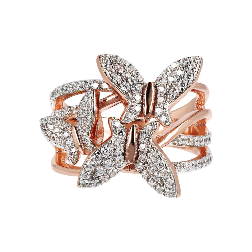 ALTISSIMA STAR CUT WHITE CZ BUTTERFLY RING - WSBZ01746 setting