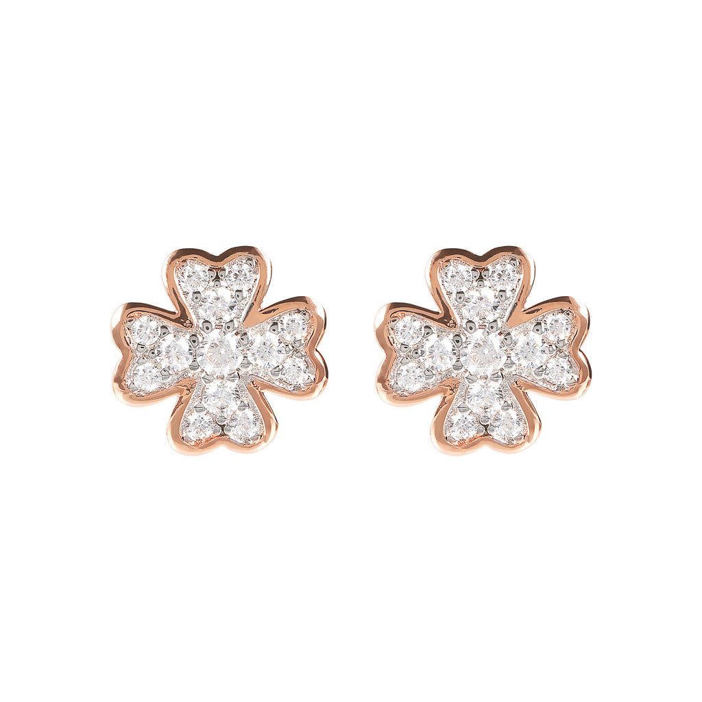 Cloverleaf CZ earrings