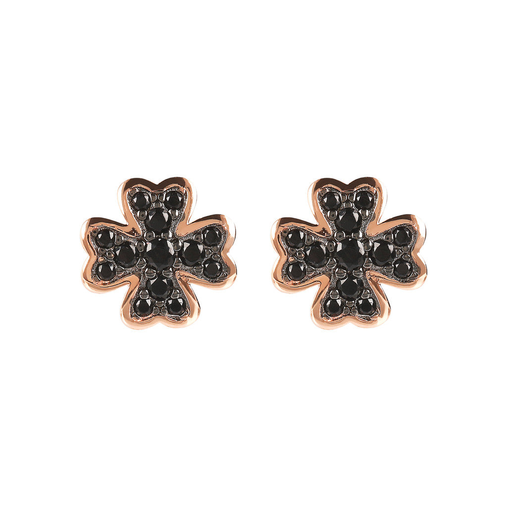 ALTISSIMA clover with cz gemstone earrings - WSBZ01638