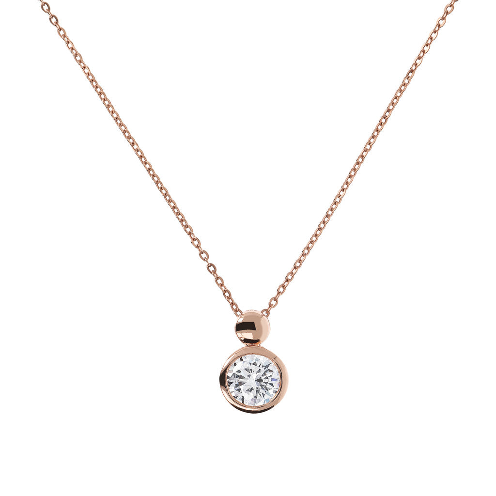 Bronzallure | Necklaces | Necklace with  Round CZ Pendant