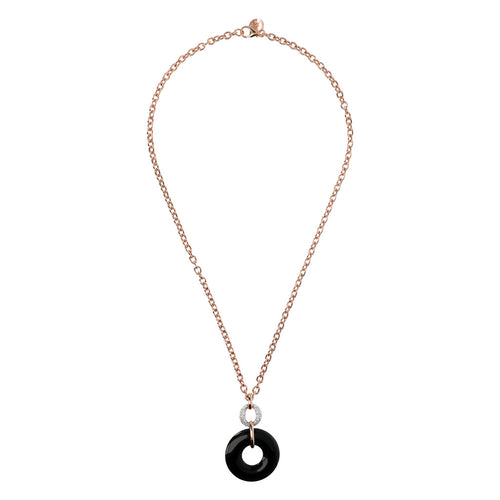 ALTISSIMA rolo' necklace w donat stone pendant and pavè link - WSBZ01378 from above