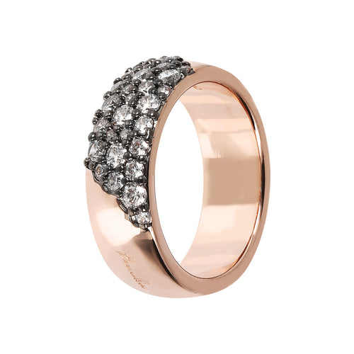 AURORA ALTISSIMA BAND RING WITH CZ PAVè - WSBZ01567