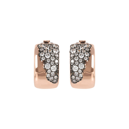 AURORA MINI HALF HOOP CZ EARRINGS - WSBZ01646