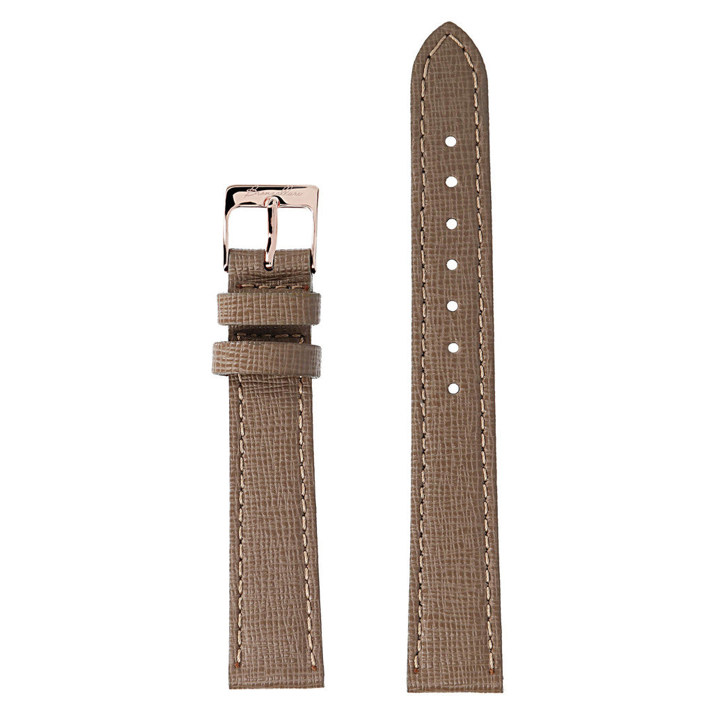 Tortora Alba Medium Interchangable Bracelets in leather for Bronzallure Watch