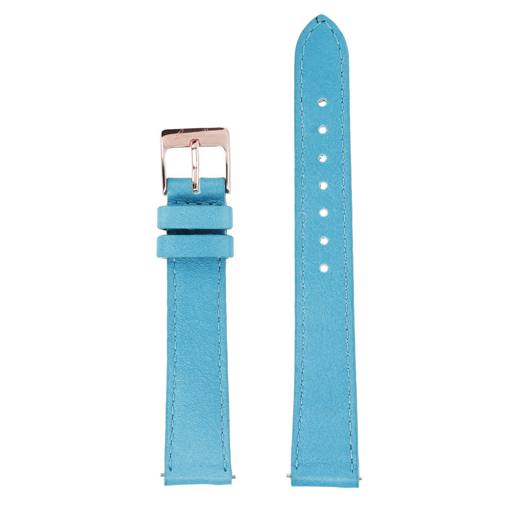 Turquoise Medium Interchangable Bracelets in leather for Bronzallure Watch