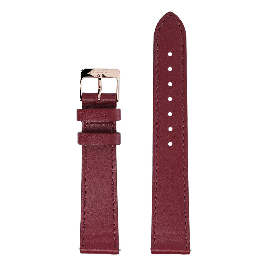 bordeaux leather interchangable bracelets for Alba Watch
