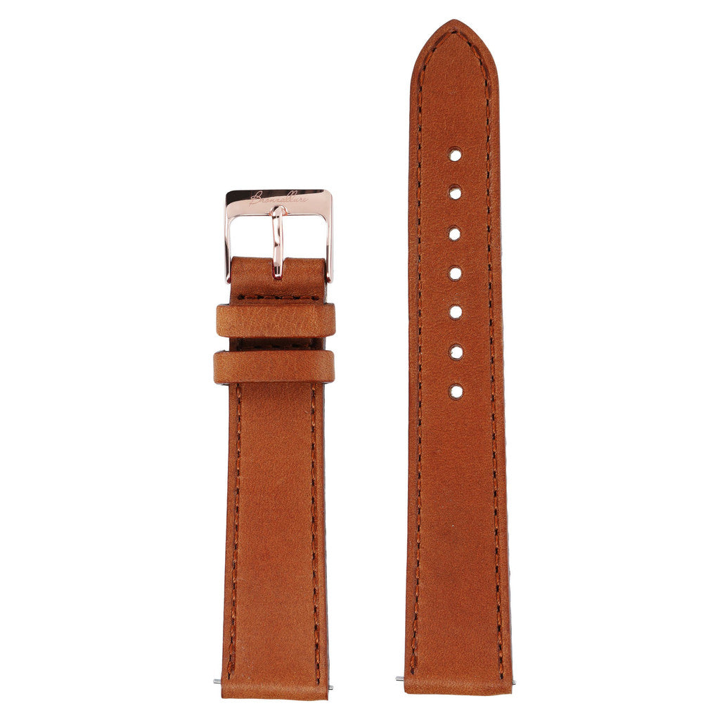 Brown leather regular interchangable bracelets for Alba Watch