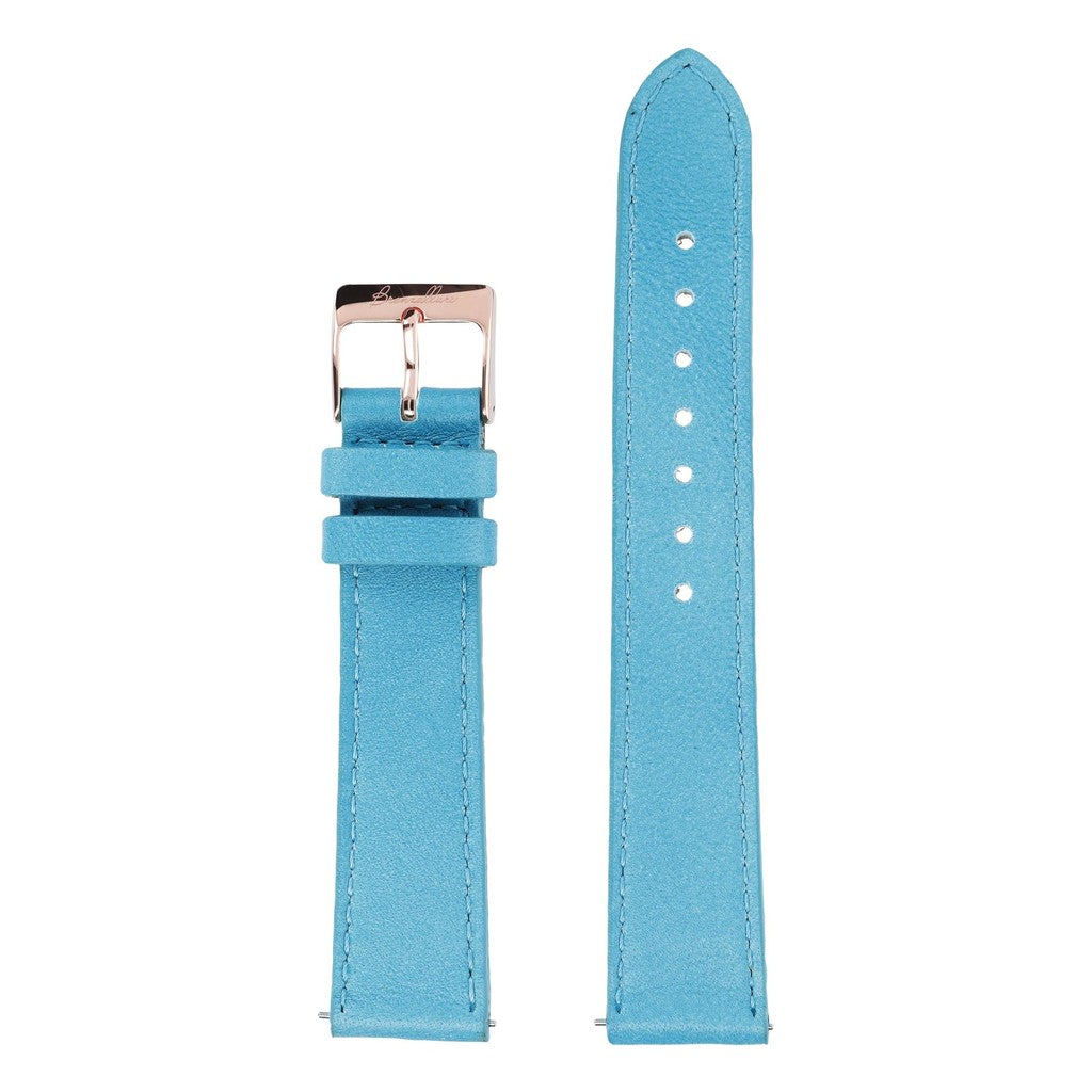 Turquoise leather regular interchangable bracelets for Alba Watch