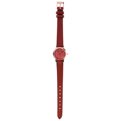 Bronzallure | Watches | Regular Watch in Red Fossil Wood