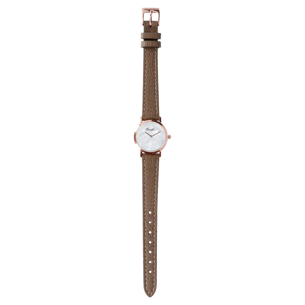 Mother of pearl watch with bracelet