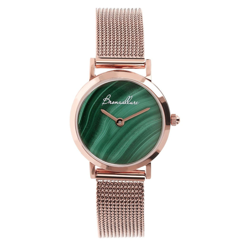 Green Stainless Steel Watch Alba Small In Pearl Or Gemstone With Interch