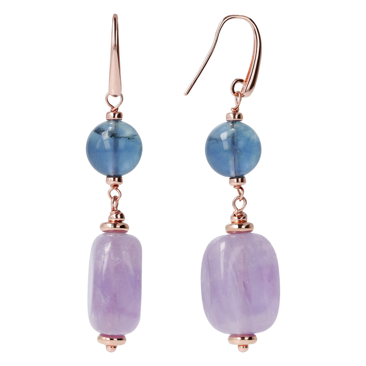 Amethyst and Fluorite Earrings