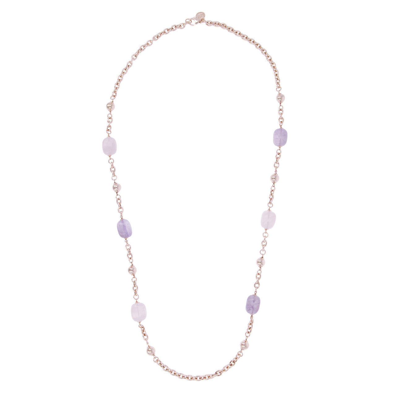 Amethyst and Rose Quartz Bead Necklace