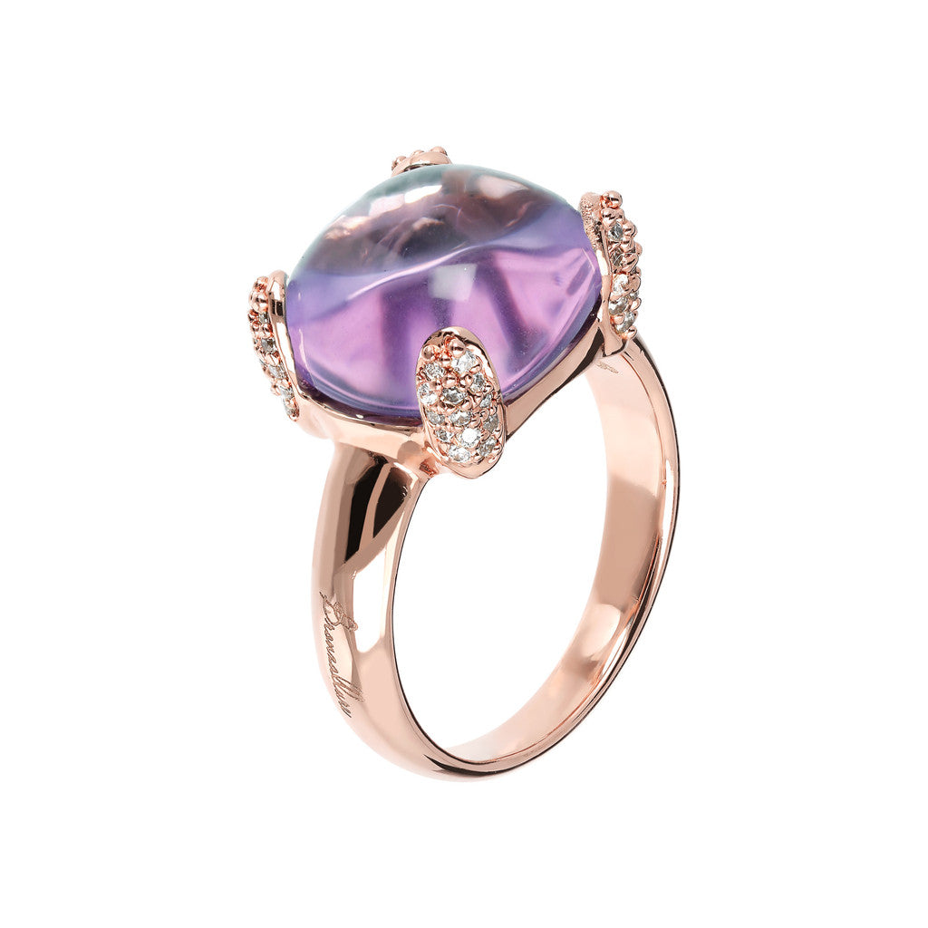 Amethyst Cabochon Cocktail Ring