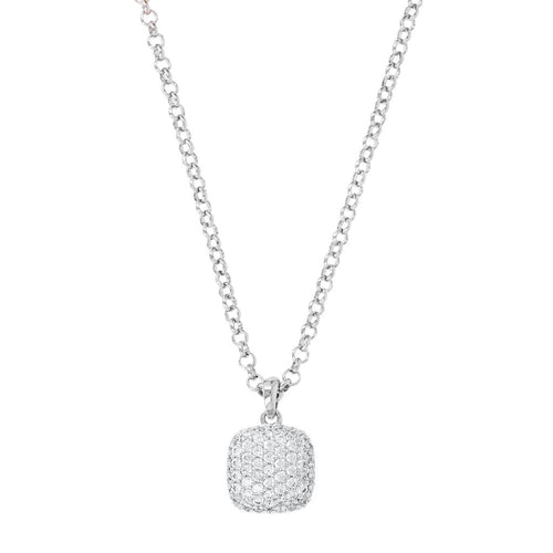 Aquared Pave Pendants Necklace Luna