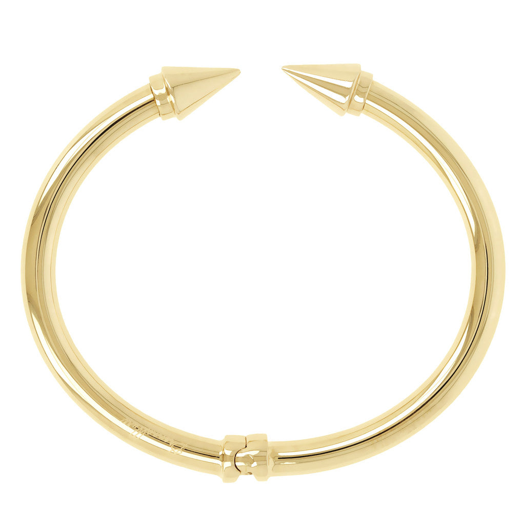BRONZALLURE GOLDEN SHINY ARROWS BANGLE - WSBZ00462Y side