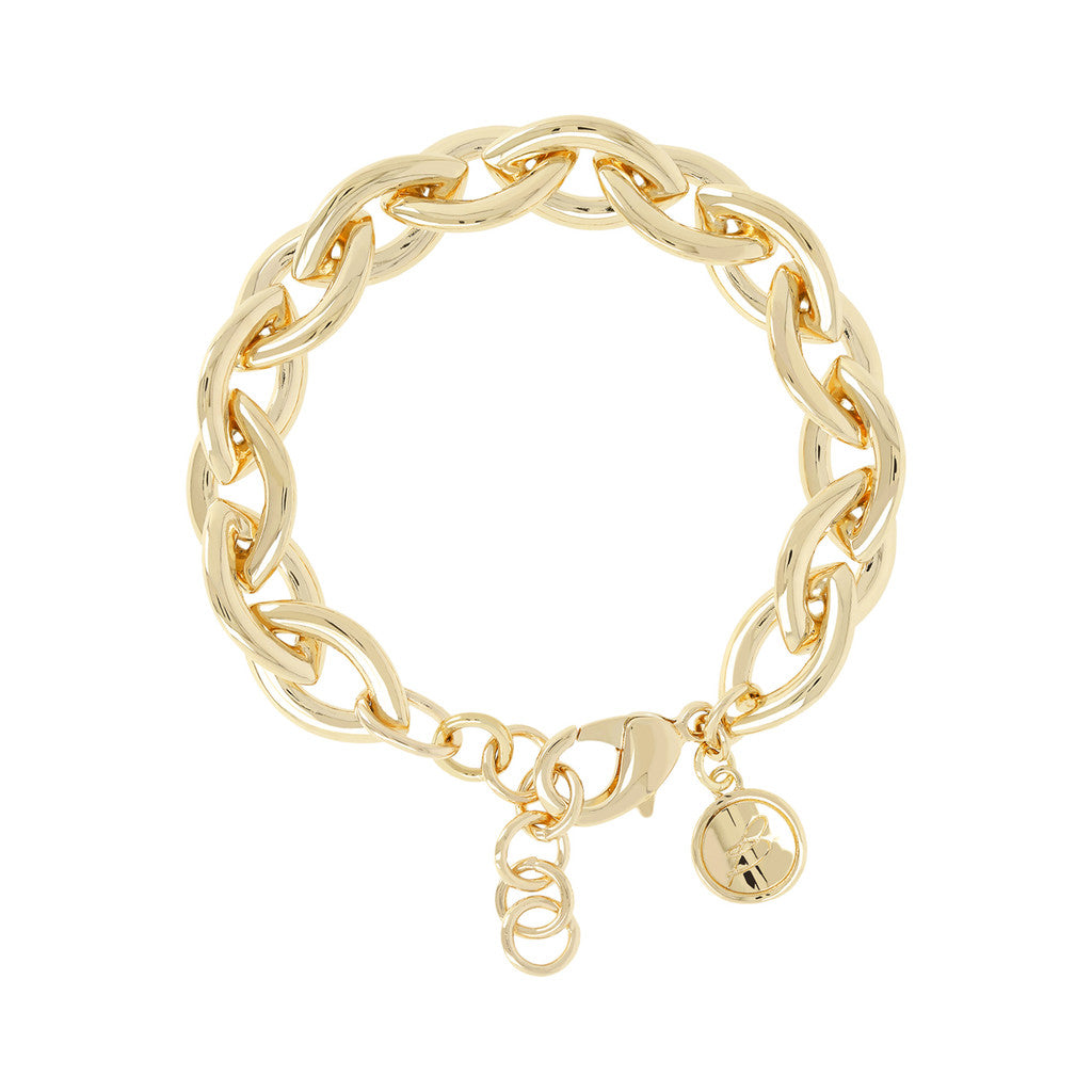 BRONZALLURE GOLDEN SHINY   MARQUISE LINKS BRACELET - WSBZ00839Y