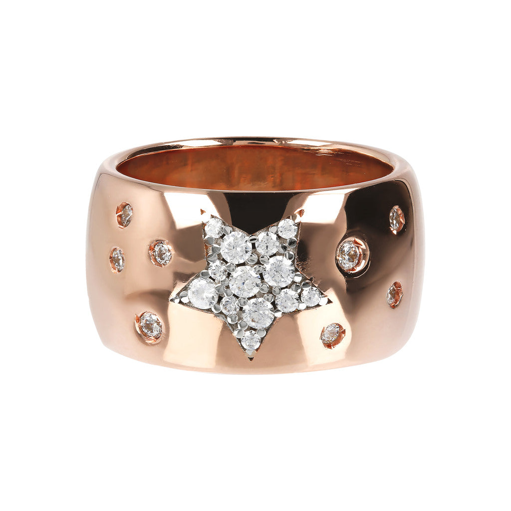 Band Ring with Star CZ setting