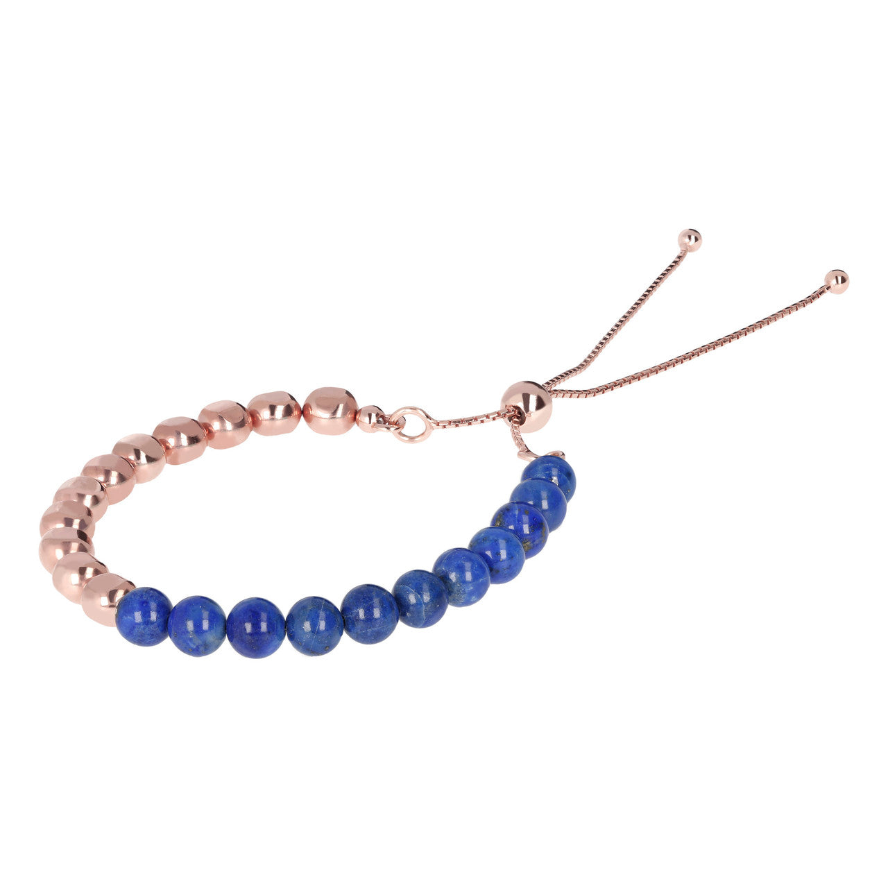 Beaded Friendship Bracelet with Gemstones LAPIS