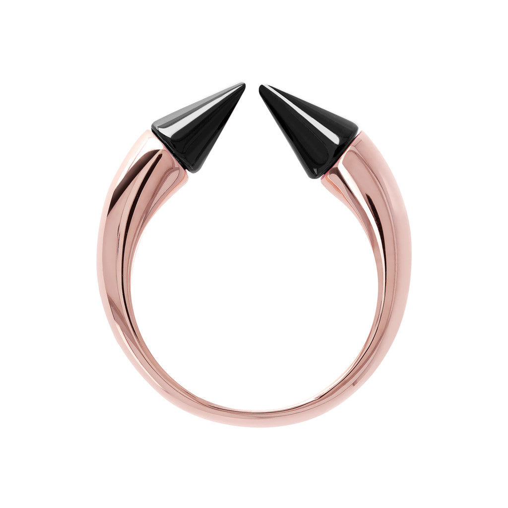 Bicolor Arrow Ring BLACK ONYX setting