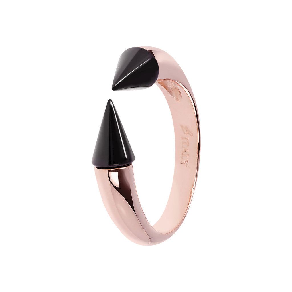 Bicolor Arrow Ring BLACK ONYX