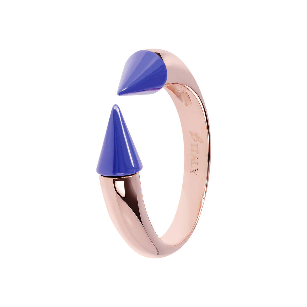 Bicolor Arrow Ring BLUE CERAMIC
