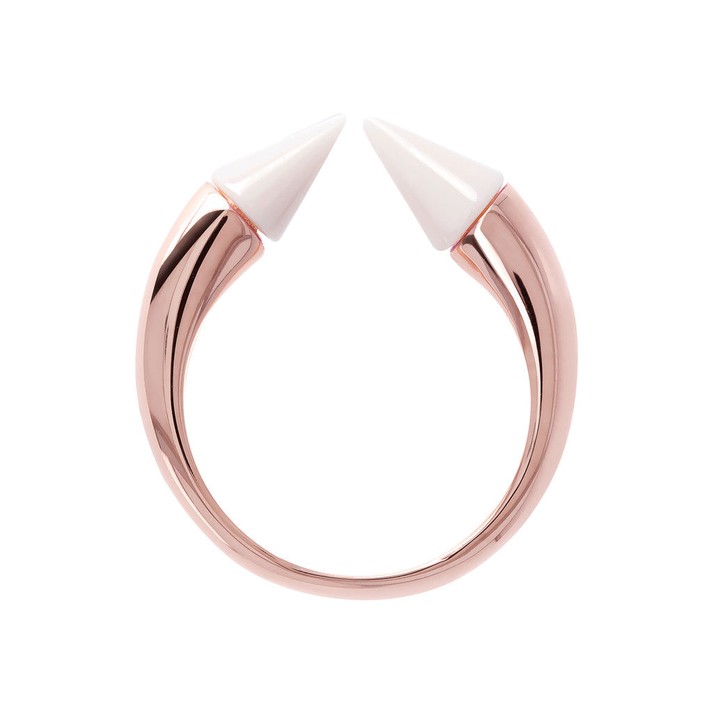 Bicolor Arrow Ring setting