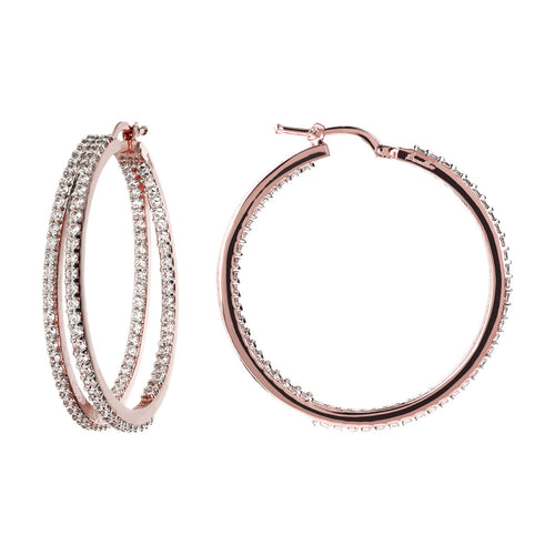 Big hoops earrings front and side