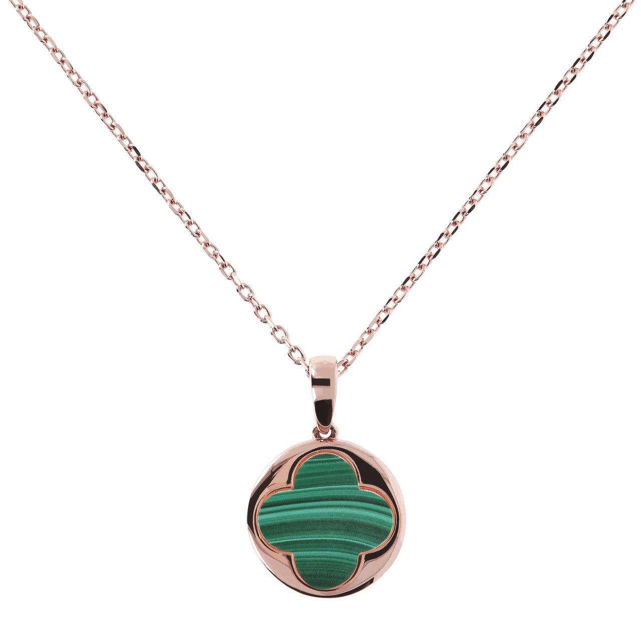 Four leaf clover pendant MALACHITE