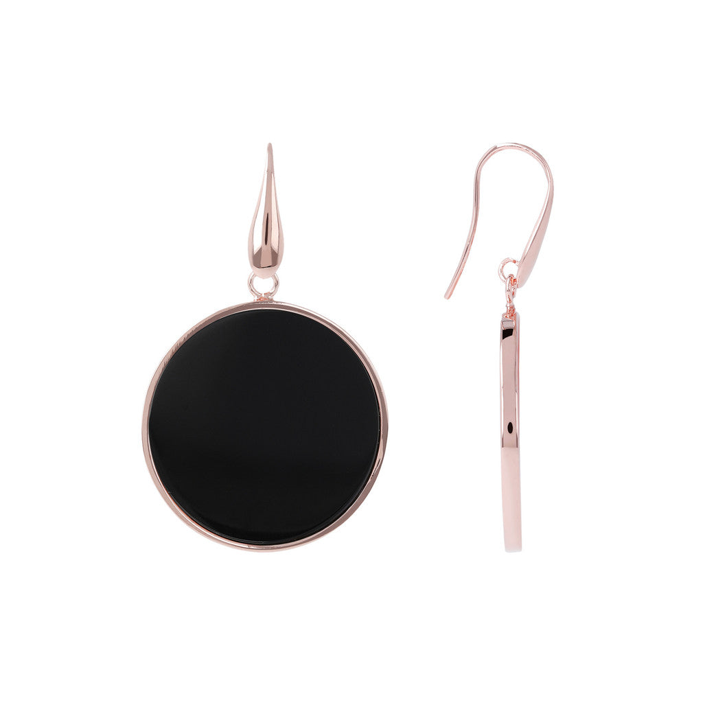 Big Earrings BLACK ONYX front and side