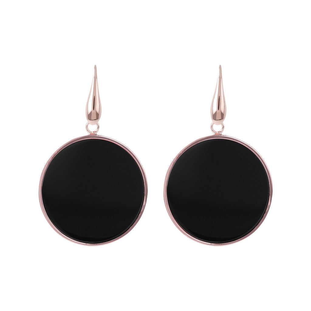 Big Mineral Earrings BLACK ONYX