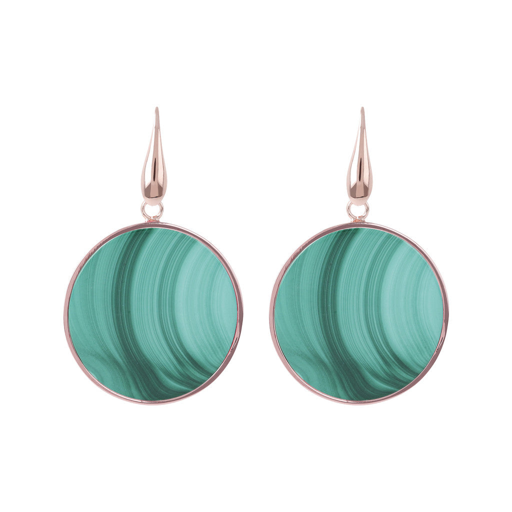 Big Earrings MALACHITE