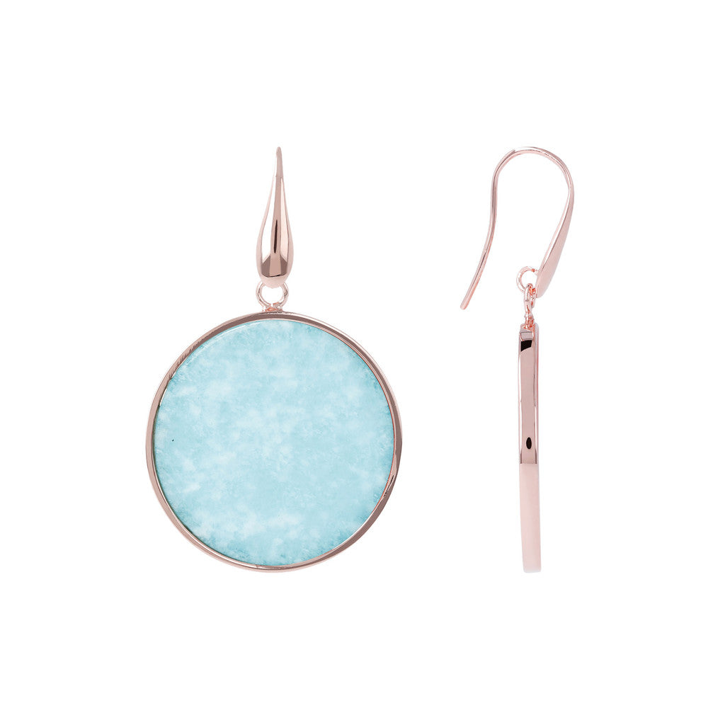 Big Mineral Earrings front and side