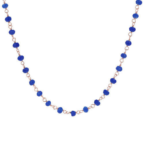 Blue Agate Amorette Necklace