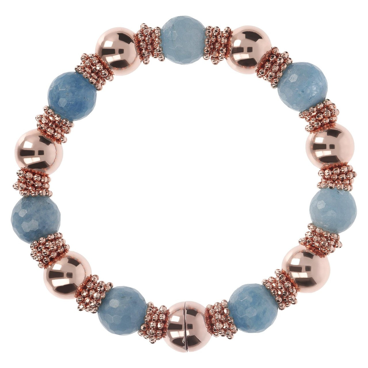Blue Quartzite Bracelet with Beads