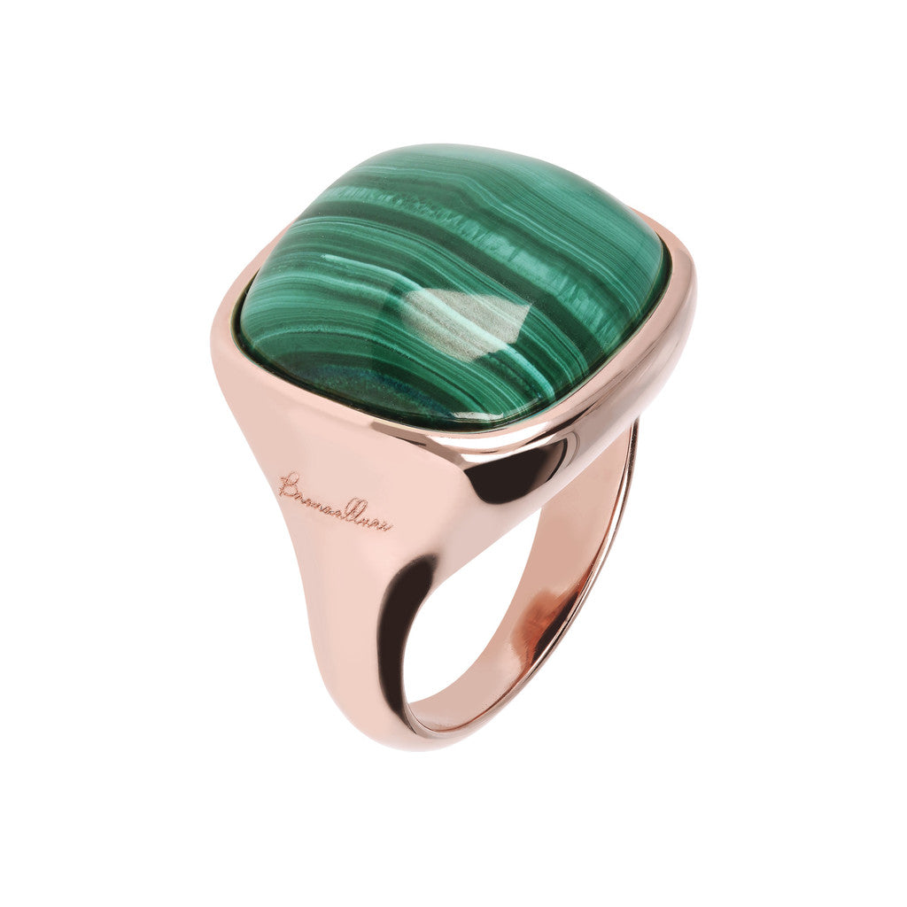 Bold Square Ring MALACHITE