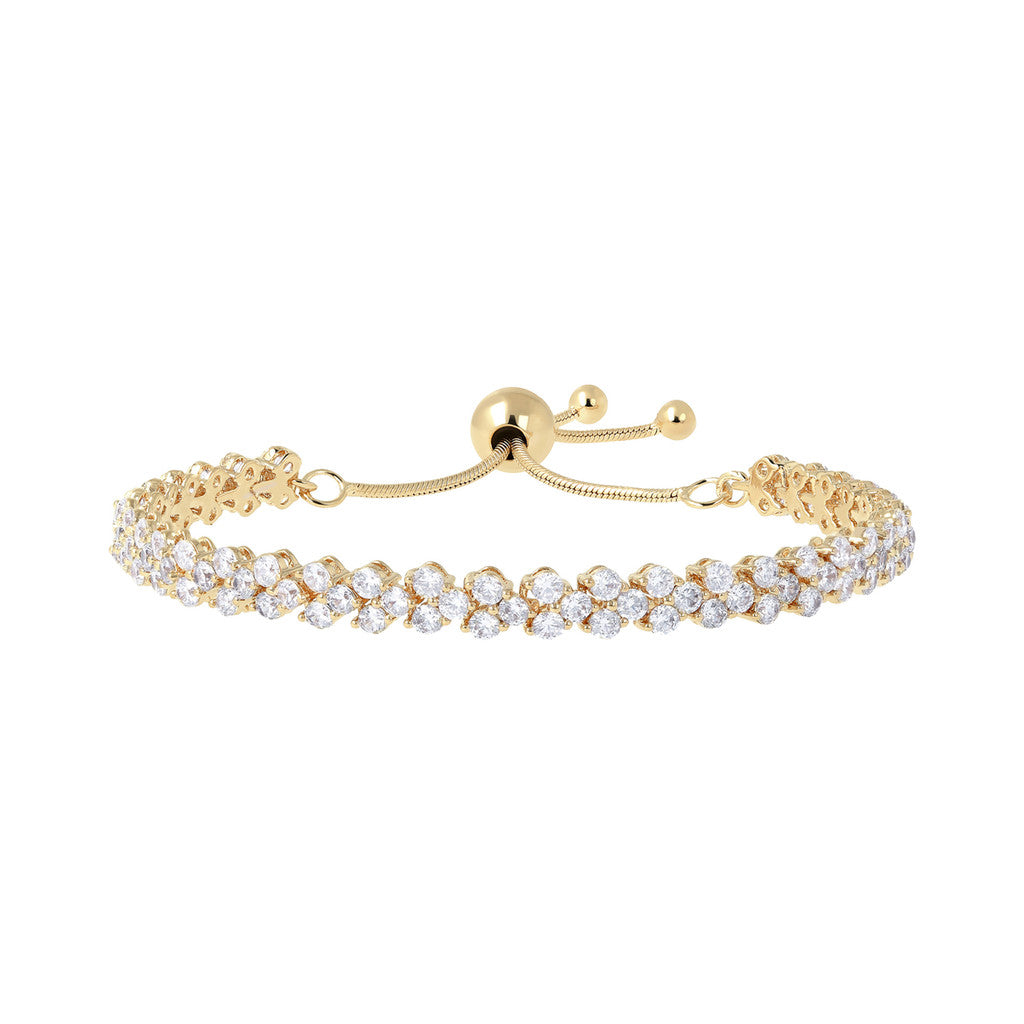 Friendship Bracelet Double Tennis Yellow Gold