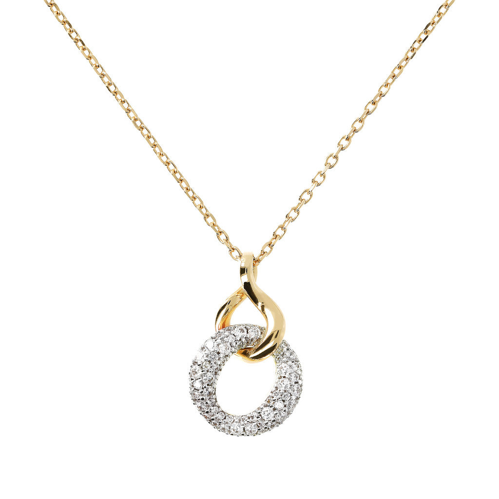 Bright Embrace Necklace Yellow Gold